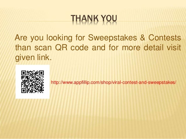 Sweepstakes & contests