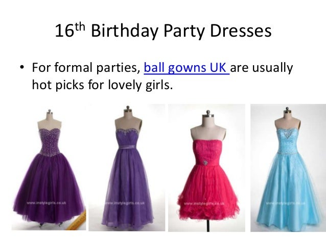 Sweet 16 birthday party dresses ideas