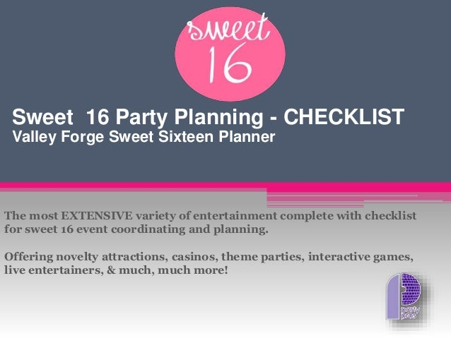 Sweet 16 Party Planning