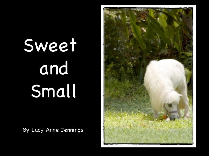 Sweet  and Small By Lucy Anne Jennings