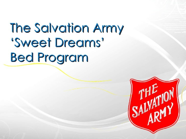 The Salvation Army 'Sweet Dreams' Bed Program