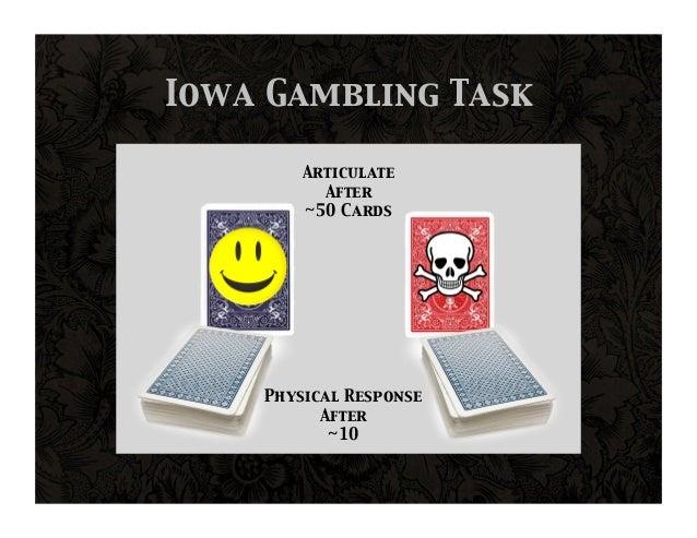 Iowa gambling task emotion casinos in macau