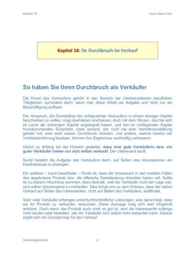 Kapitel 14 www.I-Bux.Com Verkaufsgeschick 2             Kapitel  14:  Ihr  Durchbruch  im  Verkauf   ...