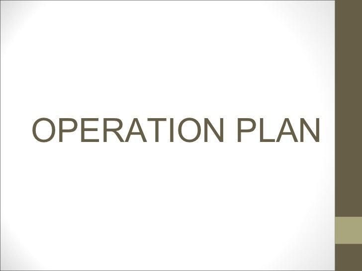 sample operating plan