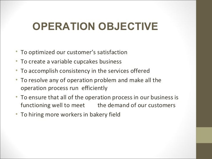 operational objectives business plan