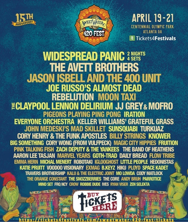 Sweetwater 420 Fest 2019 Lineup
