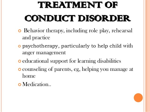 treatment for conduct disorder pdf