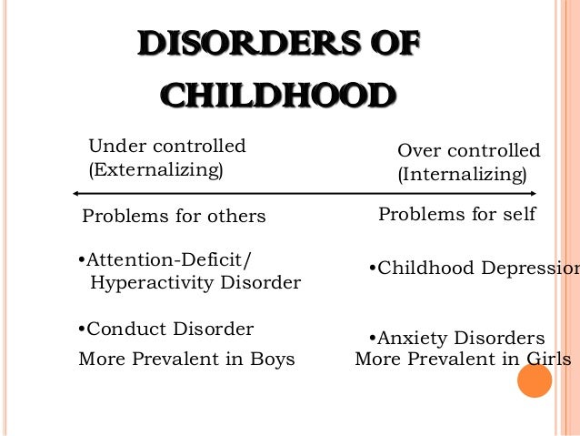 Childhood Disorder In Abnormal Psychology