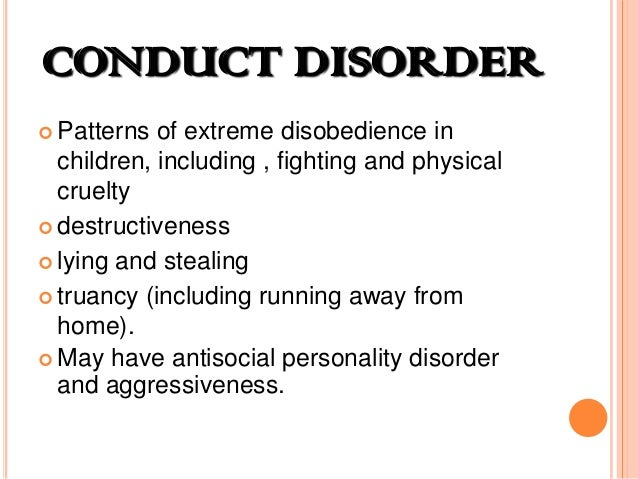 An examination of child psychology and conduct disorder cd