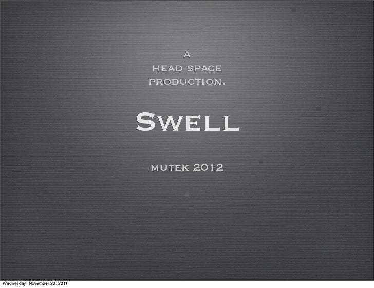 a                               head space                               production.                               Swell  ...
