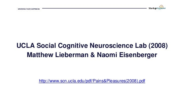 GROWING YOUR HAPPINESS UCLA Social Cognitive Neuroscience Lab (2008) Matthew Lieberman & Naomi Eisenberger http://www.scn....