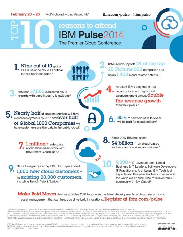 Top Ten Reasons to Attend IBM Pulse 2014 Conference