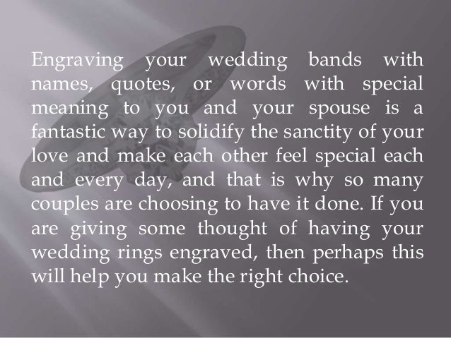 What you Should know about Getting your Wedding Ring Engraved