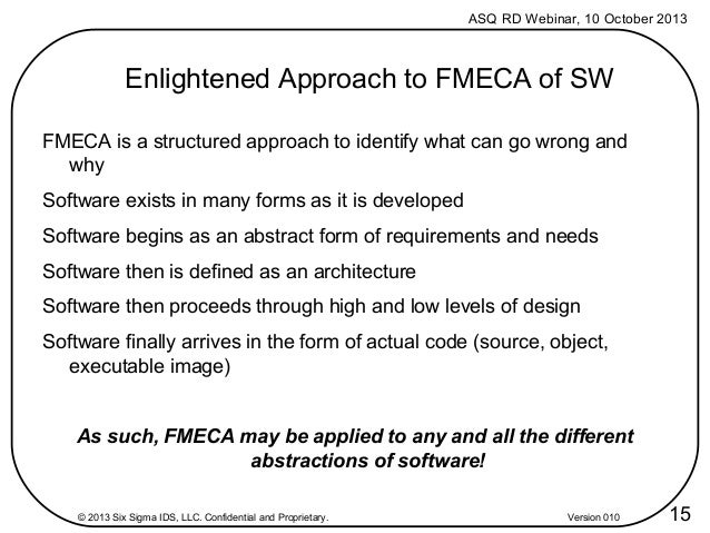 A Novel View of Applying FMECA to Software Engineering