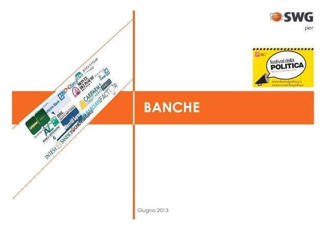 Giugno 2013 BANCHE per