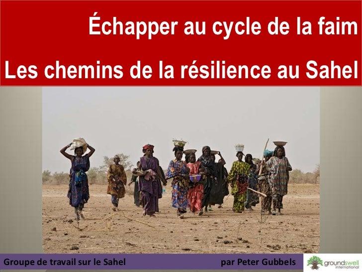 Échapper au cycle de la faimLes chemins de la résilience au Sahel                                                     1Gro...