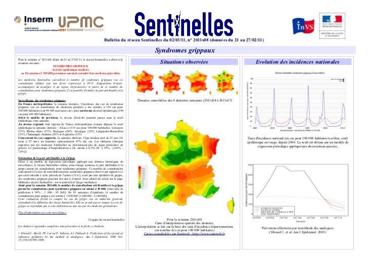 Bulletin du réseau Sentinelles du 02/03/11, n° 2011s08 (données du 21 au 27/02/11)                                        ...