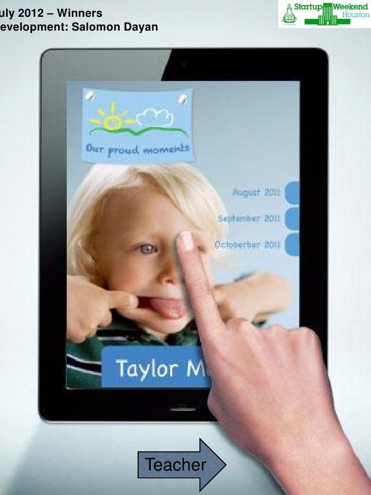 iPad                      10:00 AM     2012 – Winners ulyMenu                                SaveDevelopment: Salomon Daya...