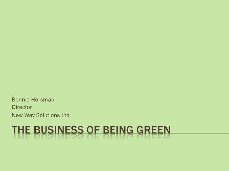 Bonnie Horsman Director New Way Solutions Ltd