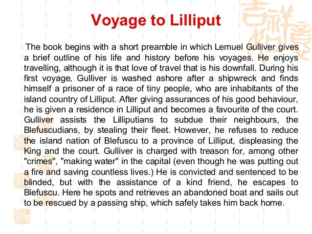 humanity in gulliver s travels The novel, gulliver's travels, is just that, a novel about the main character, gulliver who goes on many journeys the part of this book that brings out the reader's interest is gulliver's character and the ways his character changes as the story progresses.