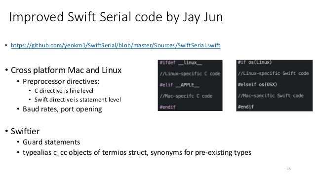 A Science Project: Swift Serial Chat