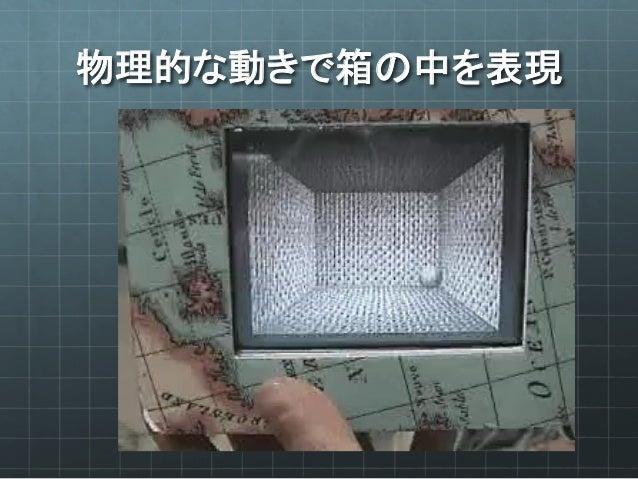 物理的な動きで箱の中を表現