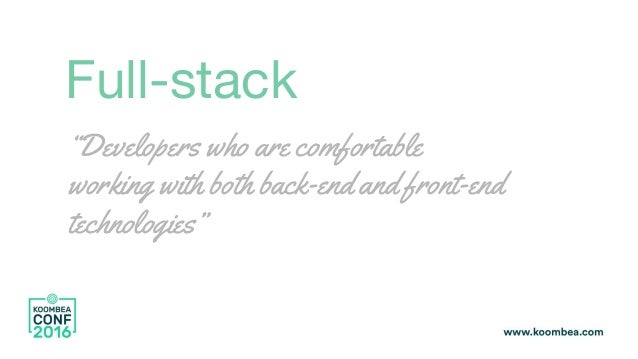 Swift for back end: A new generation of full stack languages? Slide 3