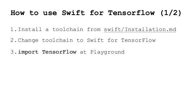 Swift for tensorflow