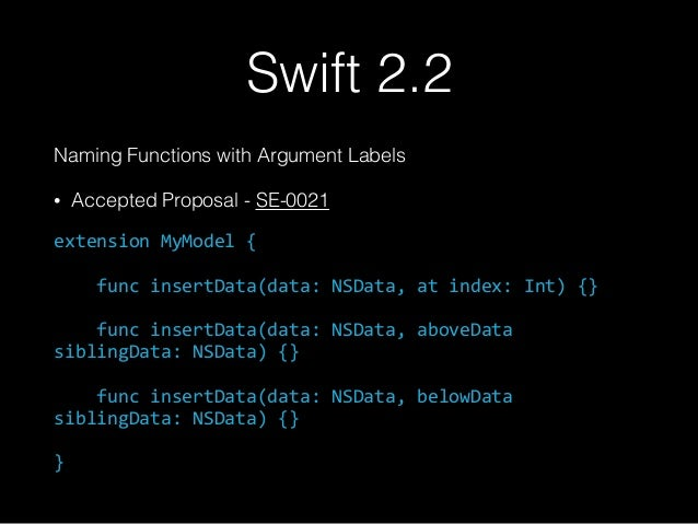 Tips and Tricks for Swift & Dot Swift 2016
