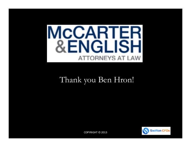 COPYRIGHT © 2013 Thank you Ben Hron!