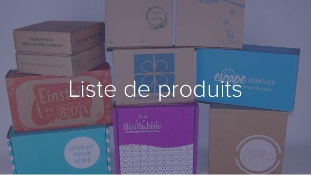 Liste de produits