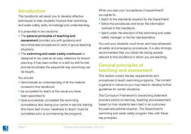 Swimming instructor handbook and guidelines final apr 2012