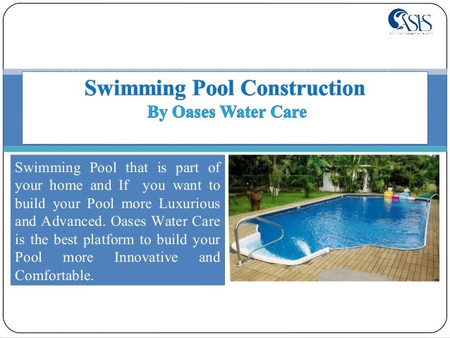 Swimming pool construction at affordable price for Swimming pool construction company