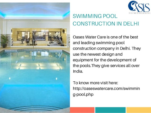 Swimming pool construction in delhi Swimming pool construction details ppt