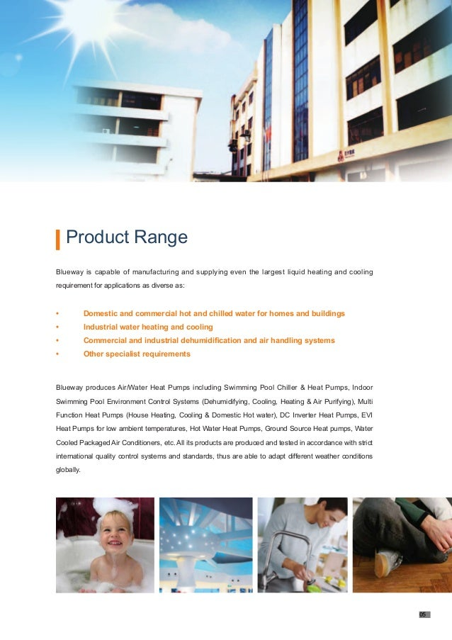 Swimming pool heat pump brochure blueway Inverter heat pump for swimming pool