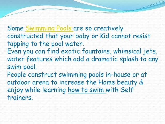 Swimming Pools For Kids Babies Health Benefits