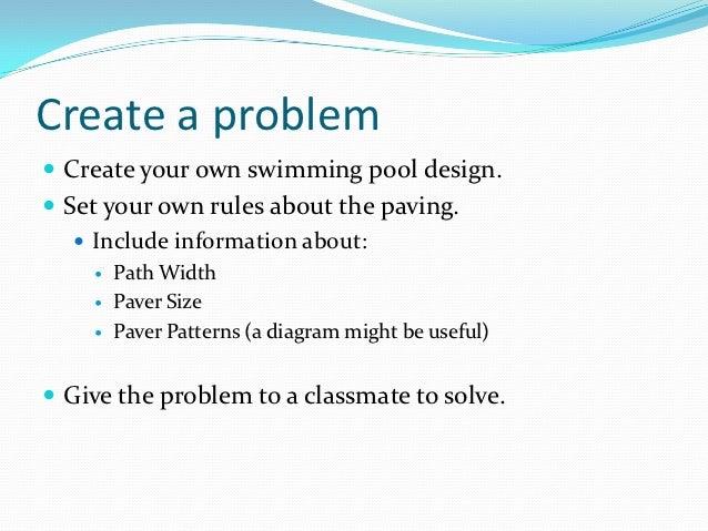 Swimming pools lesson 3