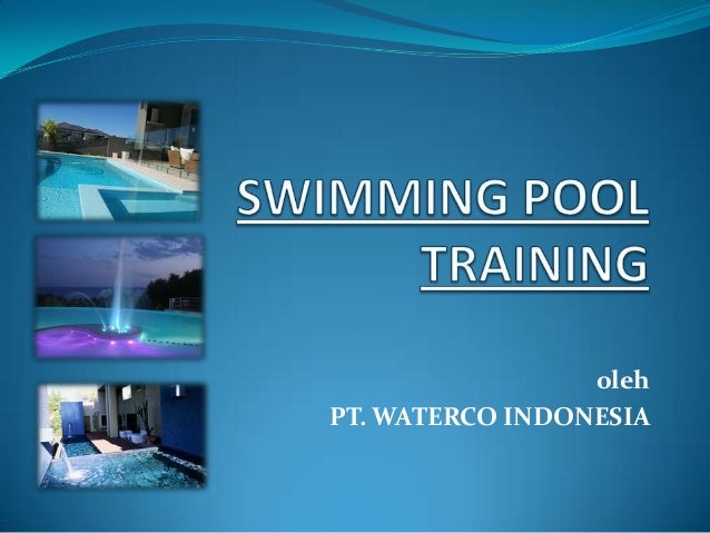 Swimming pool training for Swimming pool certification course