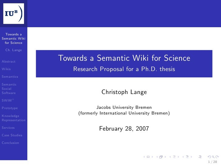 Towards a Semantic Wiki  for Science    Ch. Lange   Abstract         Towards a Semantic Wiki for Science Wikis            ...