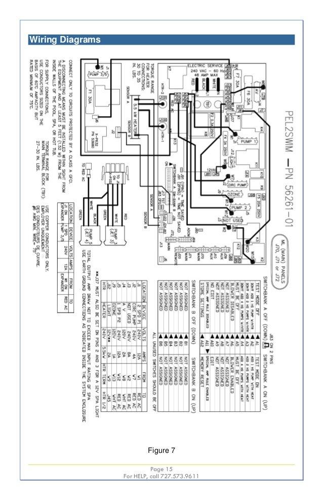 swim spas wiring diagrams