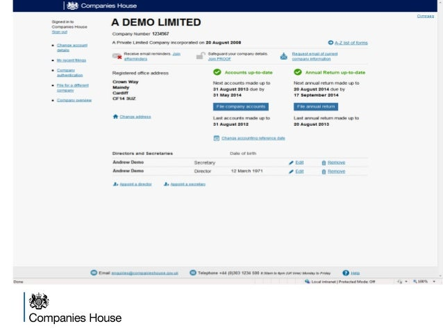 Latest companies house presentation nov 2014 for Companies housse