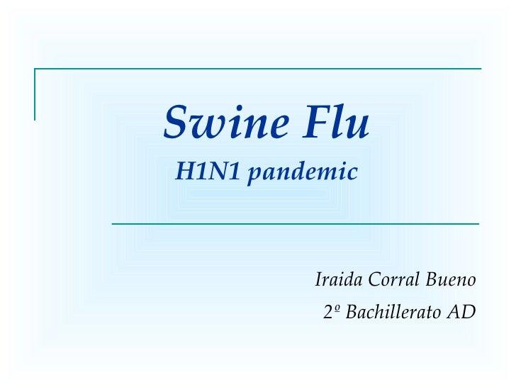 Swine Flu H1N1 pandemic Iraida Corral Bueno 2º Bachillerato AD