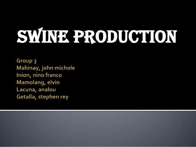 swine production Educational video's on swine production by the ttu swine production fall 2013 undergraduate students.