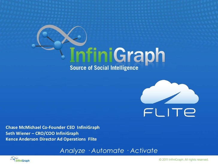 Chase McMichael Co-Founder CEO InfiniGraphSeth Wiener – CRO/COO InfiniGraphKence Anderson Director Ad Operations Flite    ...