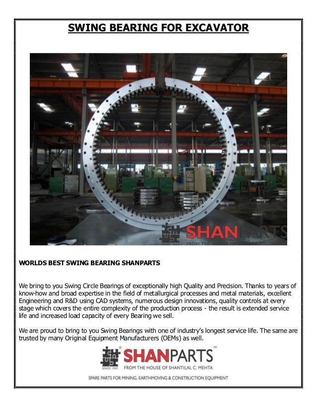 Worlds Best Swing bearing For Excavator SHANPARTS