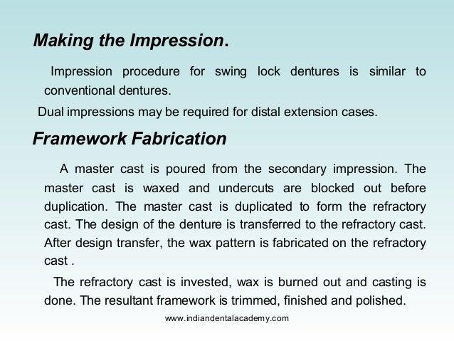 Swing Lock Partial Denture Dentistry Dental Implants