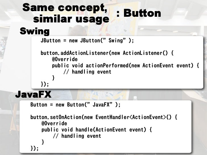 From Swing to JavaFX