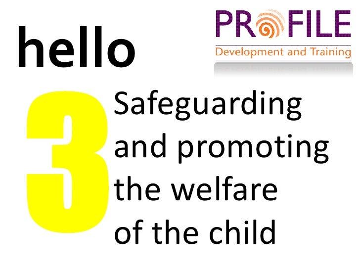 Unit 202 safeguarding the welfare of children answer s