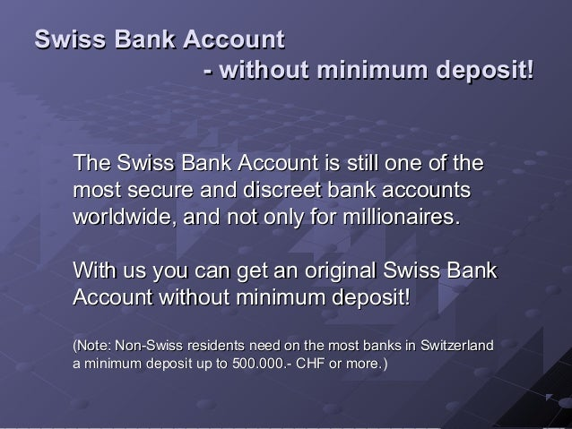 how to open account in swiss bank online