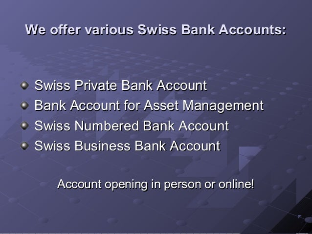 Swiss banking is a red flag.